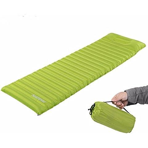 CAMTOA Super Leggero Riempimento Veloce Gonfiabile Materassi ad aria/ Sleeping Pad/ Tenda Mat/Spiaggia Lounger con (Gonfiabile Lounger)