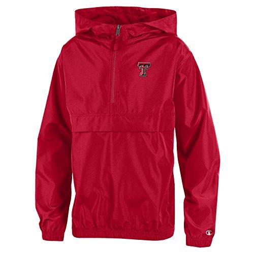Nba Kinder-jacken (Champion NCAA Jungen verstaubarer Jacke, Jugendliche Jungen, NCAA Boy's Packable Jacket, rot, X-Large)