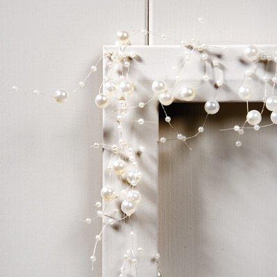 Perle Garland–2m–DIVERSES COULEURS, ivoire, 2m