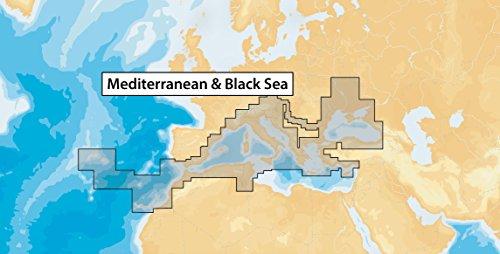 Navionics Seekarten (Navionics Plus 43XG Mittelmeer & Schwarzes Meer Meere & Seen, Karte auf SD/MSD)