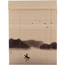 WUFENG bambus rollo Halbschatten Rolltor Drucken Abgeschnitten Staubdicht Korrosionsschutz Tee Raum Natürlicher Bambus Geruchlos Umweltschutz Türvorhang (Farbe : B, größe : 120x250cm)