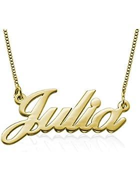 Namenskette aus 750er vergoldetem 925er Silber - Personalisiert mit Ihrem eigenen Namen