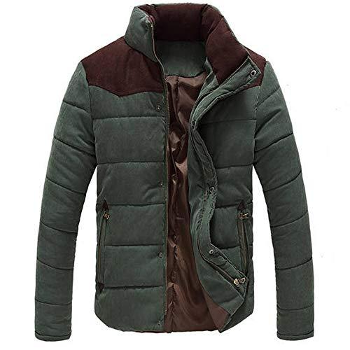 Hommes Col Ras-du-Cou Manteaux Chaud Souple Manteau Veste Blouse Blouson Pardessus Hiver Autumne Casual Sweatshirt Sport Pullover Vert XL
