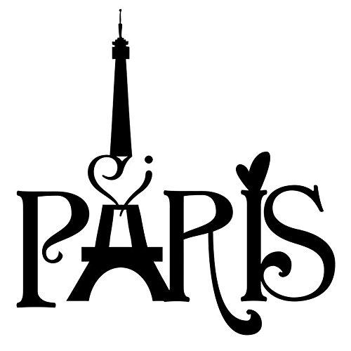 NiceButy Stickers pour Mur Adhésif Murale Art Stickers Bricolage Créative Décoration Autocollants Hot Populaire La Tour Eiffel, Paris Disponibles pour Chambre, Salle de Bain, Chambre