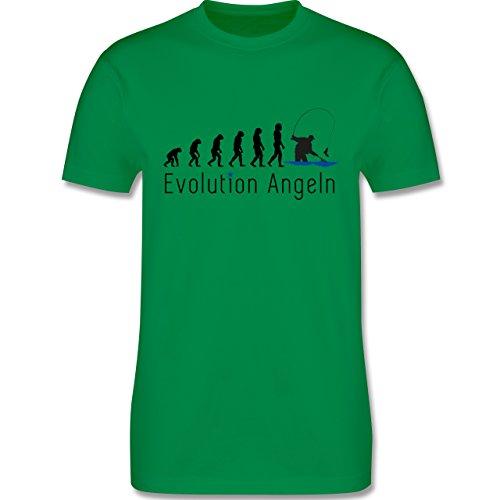 Evolution - Angeln Evolution - Herren Premium T-Shirt Grün