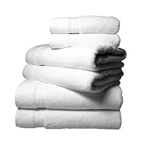 Lycian 650 GSM Turkish Cotton 7 Peice Towel Bale Set in White by Textiles Direct