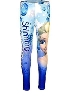 Frozen Leggins Die Eiskönigin 2017 Kollektion Leggings 98 104 110 116 122 128 Mädchen Lang Elsa Blau