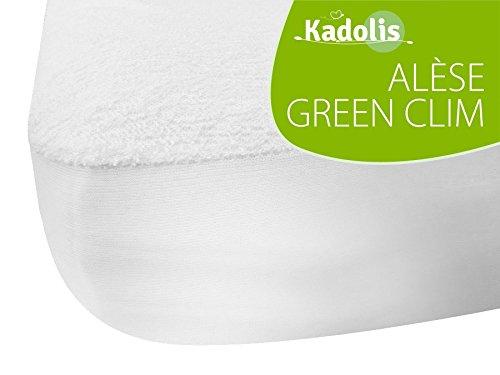 Kadolis - Protector de colchón infantil de bambú para cama, blanco Talla:50x83 cm
