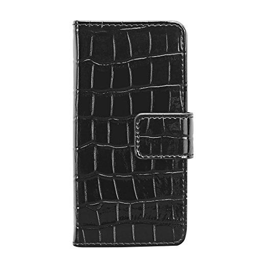 Aiino Étui de protection Coque Case de protection Coque Case Crocco Accessoire pour téléphone portable Smartphone Apple iPhone 5/5S noir