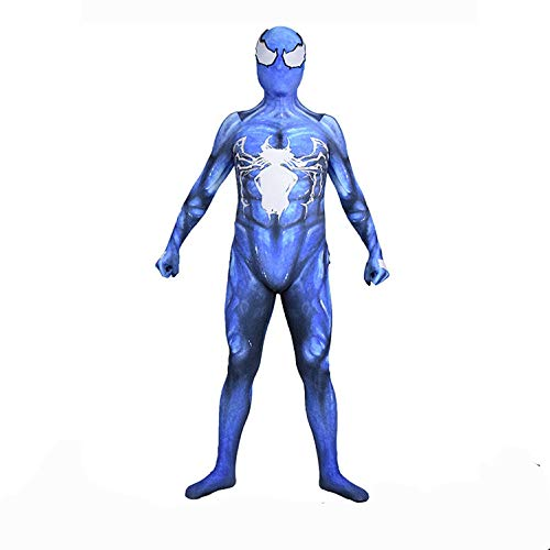 Kostüm Real Spiderman - CHXY Spiderman Kostüm Kind Erwachsener Dress Superhelden Cosplay Verkleidung Halloween Mottoparty Strumpfhosen 3D Drucken Onesies Karneval Overall,Children-L
