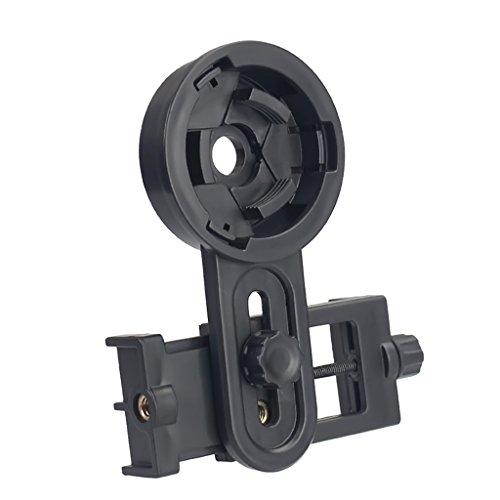 Biaobiaoc Univeral - Adattatore universale per fotocamera, smartphone, telescopio