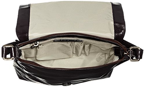 Jost - Toronto Shoulder Bag S, Borsa a tracolla Donna Nero (Black (Lava))