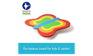 Shumee Wooden Butterfly Balance Board (3-8 Years) - Indoor & Outdoor Activity Fitness Toy for Kids