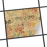 creatisto Fliesen-Aufkleber/Küchenfolie 20x15 cm 1x1 / Design Sticker 3D Retro/Selbstklebende Dekoration