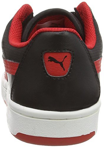Puma Puma Rebound v2 Lo Unisex-Kinder Hohe Sneakers Schwarz (black-high risk red 09)