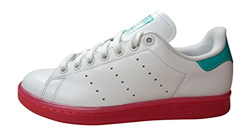 Adidas Originals Stan Smith - Scarpe da Ginnastica Basse Donna white bright pink AQ4577