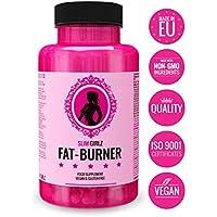 Slim Girlz Fat-Burner   Quemador De Grasa Para Mujeres   10 Ingredientes Activos Para Pérdida De Peso   Pastillas Sin Estimulantes, Seguras, Naturales y Eficaces   Hecho en UE   60 Cápsulas Veganas