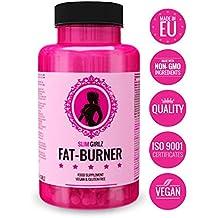Slim Girlz Fat Burner   Pilule minceur   Perte de graisse et de poids   Coupe faim   Brûleur de graisse pour la perte de poids pour femmes   10 ingrédients actifs   Sans stimulants   Pilules de régime efficaces sûrs et naturels   Végan   Fabriqué dans l'UE   60 capsules véganes