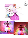 Skylon Plastic Rotating and Flashing Light Angel Girl Musical Toy for 2 Year