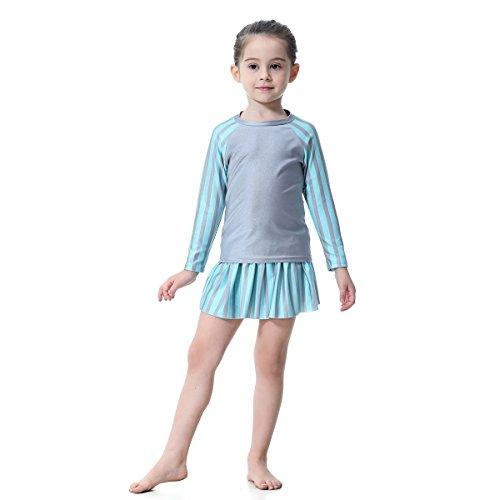 SXZHSM Bademode konservative Badebekleidung Arabische Badebekleidung Dubai Kinderbekleidung Rock Badebekleidung Badebekleidung dreiteiliger geteilter Badeanzug Badeanzug für Kinder -
