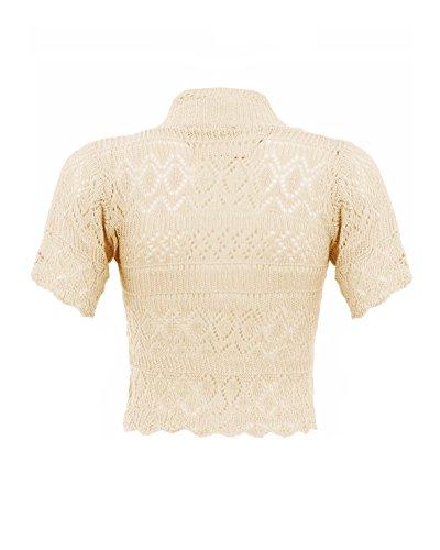 Shrug SD Cardigan da donna lavorati a maglia Crema