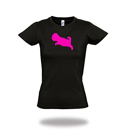 WIZUALS Mops Dackel Pudel Shirt KILLPUDEL Chiwawa T-Shirt Girlie Girly Lady Shirt von, Gr. S -