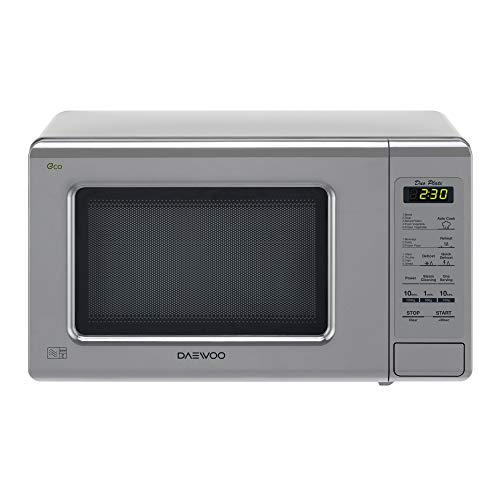 Daewoo Duo-Plate Touch Control Microwave, 800 W, 20 Litre, Silver
