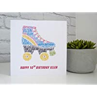 Personalised Roller Boot Birthday Card, Personalised Roller Skate Card, Personalised Birthday Card