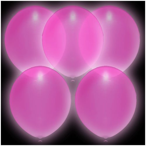 illoom Ballon–Licht LED bis Luftballons–5er-Pack (Rosa) gesehen–wie auf BBC Dragons Den