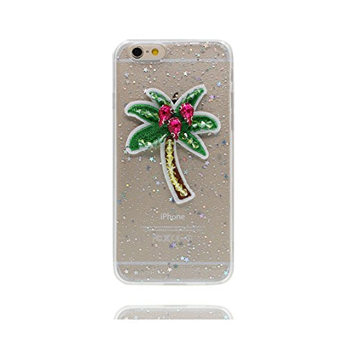 Custodia iPhone 7 Plus, Silicone trasparente Case iPhone 7 Plus copertura Cover e ring supporto Shell Graffi Resistenti - 3D coniglio Cute Color - 4