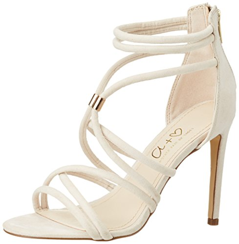 Another Pair of Shoes Sveae1, Sandales Bout Ouvert Femme Beige (Sand782)
