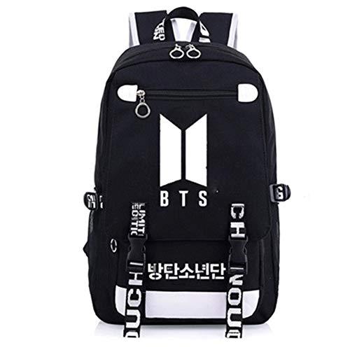 Yovvin BTS Rucksack, Kpop Bangtan Jungen Jungkook Jimin V Suga Jin J-Hope Rap Monster Leinwand Rucksäcke Daypack Schultasche für The Army(BTS)