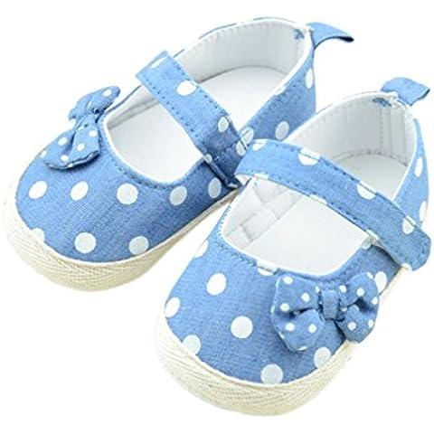 Bambino Dot Bowknot scarpe anti-slittamento morbido Sole pattini del bambino