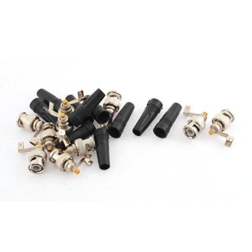 10Stück Gerade BNC Stecker Anschluss adapters + Plastik Hülsen Cover de de -