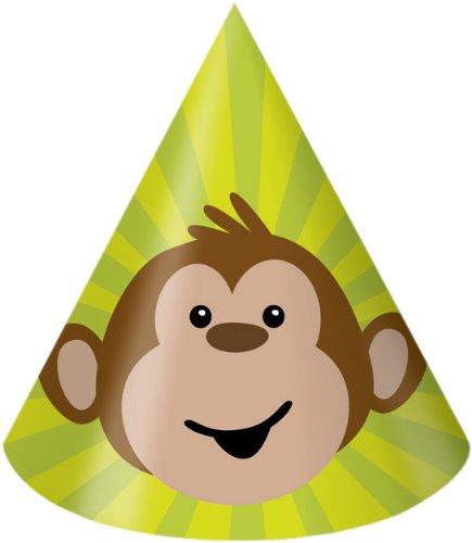 Creative Converting Monkeyin 'um Geburtstag Party Hüte, Kind Größe, 8Zählen