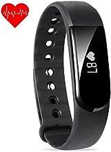 Pulsera de actividad ,Reloj FITEEN ey ejercicios conmonitor de frecuencia cardíaca,Venda intelligente de aptitud Bluetooth4.0,Pulsera Podómetro resistentealagua IP67, Monitores de actividad