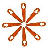 Manyo - 8 lame in plastica di ricambio per tagliabordi senza fili, accessori convenienti per decespugliatore da prato Stihl 2-2 FSA 45, arancione