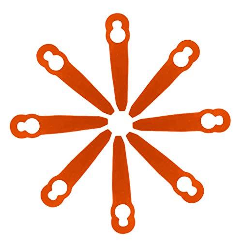 Manyo - 8 cuchillas de plástico de repuesto para corte de bordes sin cables, recortables, accesorio...
