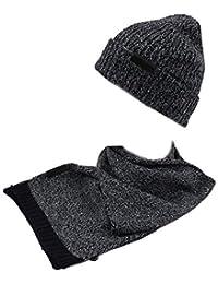 GIANMARCO VENTURI Set sciarpa e cappello uomo 100% acrilico in box 71800  navy ccf1613b1bc6