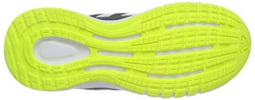 adidas Performance Unisex-Kinder Duramo 7 Laufschuhe Schwarz (Core Black/Ftwr White/Solar Yellow)