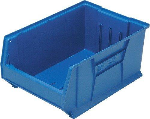 Stacking Containers Plastic (Quantum QUS954 Plastic Storage Stacking Hulk Container, 24-Inch by 16-Inch by 11-Inch, Blue, Case of 1 by Quantum Storage Systems)
