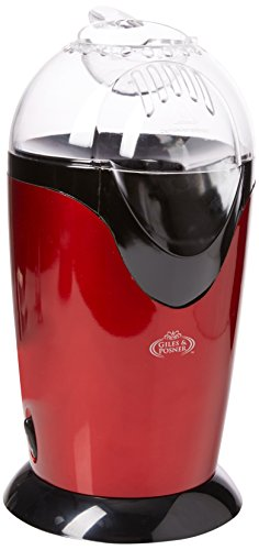 41zH2l94BKL - Giles & Posner EK1524GH Healthy Fat-Free Hot Air Popcorn Maker, 1200 W, Red
