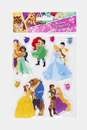 Disney Prinzessinnen und Prinzen Jelly Aufkleber Schnee weiß, Belle, Ariel, Jasmin, Cinderella, Rapunzel, Disney Princess Collection abnehmbarer Aufkleber für Art, Windows, Handys, Alben, Geburtstag (Disney Prinzessin Bögen)