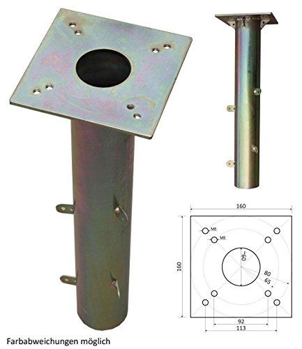 ProKIRA Universal Bodenhülse für Sonnenschirme & Wäschespinnen Geeignet, 16x16cm, Einfache Montage