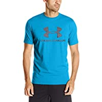 Under Armour Cc Sportstyle Logo Camiseta de Manga Corta, Hombre, Azul (Cruise Blue/Medium Heather), L