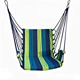 SENCILLON Hängematte Seil Hängesitz Qualitäts-Baumwollgewebe für hohen Komfort und Haltbarkeit, Garten, Terrasse, extra lang