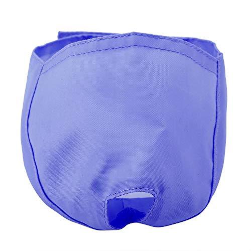 Qiterr Katzenmaul, verstellbares, atmungsaktives Mund-Muffel-Anti-Biss-Bad (M-Blau)