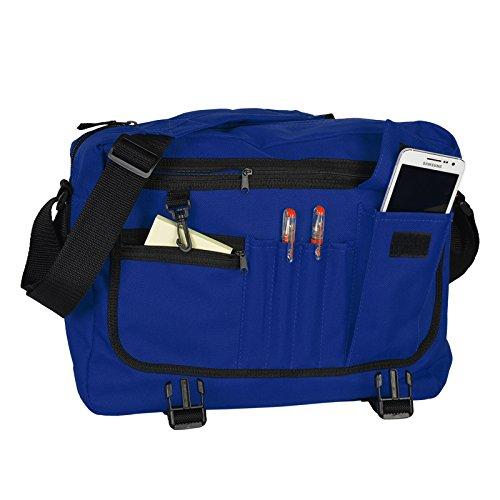 Praktische Umhängetasche / sehr robust : Tasche - mit Goodman Logo - Schultasche / Schultertasche / City Bag Farbe: grün / schwarz royal-blau