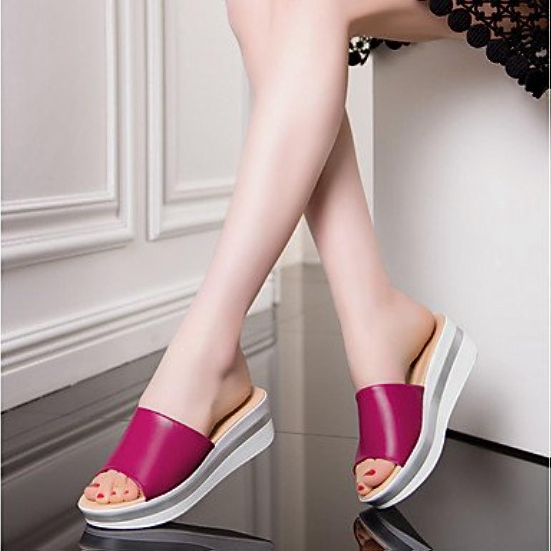 Tacones Mujer Confort Zapatilla Moda Primavera Verano Oficina Informal &Amp; Carrera Comodidad Talón De Cuña Verde...
