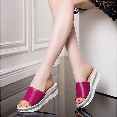 RTRY Donna Comfort Tacchi Pantofola Moda Primavera Estate Casual Office &Amp; Carriera Comfort Cuneo Verde Di Tacco Fucsia Bianco Nero 1A-1 3/4In US5 / EU35 / UK3 / CN34